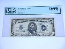 FR 1651m $5 Mule 1934A Silver Certificate CH ABT NEW 55 PPQ