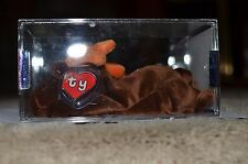 MWMT Authenticated TY beanie baby Chocolate 2nd hang 1st gen True Blue Beans