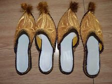 Arabian Horse Costume 2 Pair shoes gold with blue/black edges, size 8 ( roughly)