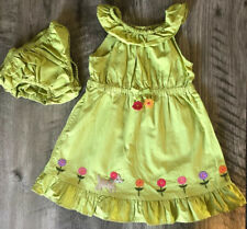 Gymboree 2T Pretty Posies Dress Puppy Flowers Embroidered Summer Spring