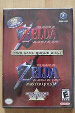 Nintendo GameCube ZELDA OCARINA OF TIME / MASTER QUEST TOW-GAME BONUS DISC - NEU