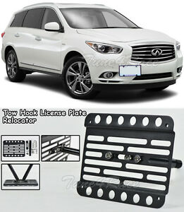 For 13-Up Infiniti QX60 Front Bumper Tow Hook License Plate Bracket Relocator