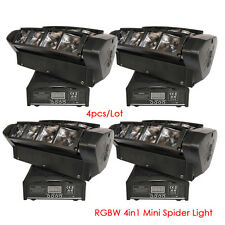 4pcs 8x10W Led Spider Moving Head Light MINI Led Party Light DJ disco wedding