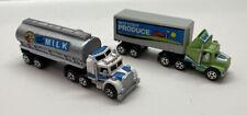 1989 Galoob Micro Machines Vehicles Semi Truck Food Service #6 Set Haulers (2)