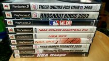 PS2 Games Lot Of 10 - Sports,NBA TIGER WOODS AND MORE