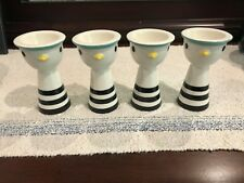 Egg Cups - Unique Retro Chickens- Set of 4 - Excellent Condition - Free Shiping!