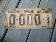 1937 37 PRINCE EDWARD ISLAND PEI CANADA SAMPLE LICENSE PLATE NICE TAG BUY IT NOW