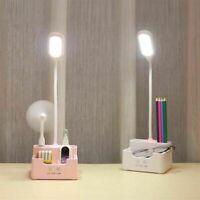 Desk LED Lamp Desk Dimming Light Rechargeable USB Charging Port Phone Holder