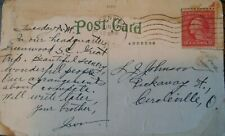 Rare 1919 George Washington 2 Cent Red Postage Stamp and Postcard