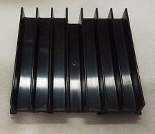 "Heat Sink, Black Aluminum, 3.5"" x 3.5"" x .75"", 4.9 oz."