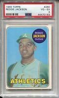 1969 Topps Baseball #260 Reggie Jackson Rookie Card RC Graded PSA 4 Yankees