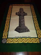 Celtic High Cross Monasterboice Tea Towel Linen Union Fingal Made in Ireland New