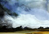 ORIGINAL SCOTTISH ART  - OIL PAINTING - STAC POLLY FROM ACHNAHAIRD BAY