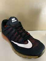 Nike Air Max 2016 Mens Size 12.5 Black Athletic Sneaker Running Shoes *Rare*