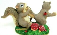 Charming Tails Figurine You Can't Run From Love Fritz and Floyd Le Squirrels