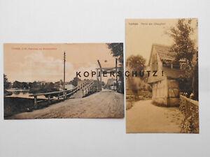 AK Lychen, um 1910, Ldkr. Uckermark, Flößerstadt, Wurl-See, 2 St.  #AT145