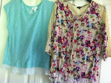Lot Of Two Women's Clothing Hannah Floral Top Large Lace