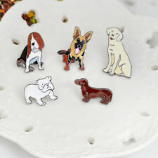 5 Pcs/Set Lovely Dog Enamel Brooches Denim Jacket Pin Badges Fashion Jewelry-