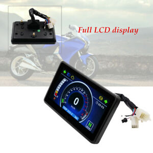 Motorcycle Full LCD Screen Speedometer Digital Odometer Universal CY1985 harness