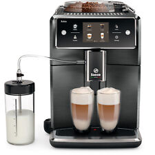 Saeco XELSIS Black & Silver Automatic Espresso Machine SM7684/04