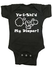 """Nintendo Yoshi One Piece """"Yo-I-Shi'd My Diaper!"""" Baby Bodysuit"""