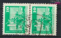 DDR 1868sP senkrechtes Paar Bedarfsstempel gestempelt 1974 Bauwerke (9187941