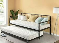 Newport Twin Beds Daybed And Trundle Set/Premium Steel Slat Support/Daybed Roll