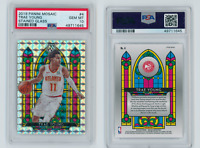 Trae Young Hawks 2019-20 Panini Mosaic Stained Glass Prizm #4 PSA 10 GEM MINT
