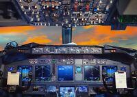 A1 Flight Deck Aeroplane Cockpit Poster Art Print 60 x 90cm 180gsm - Gift #16297