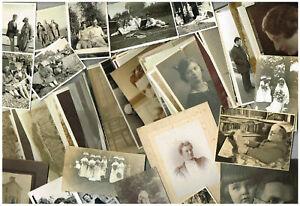 FAMILY PHOTOS ANTIQUE / VINTAGE BULK LOT PEOPLE GROUPS & PORTRAITS 1900-1950s