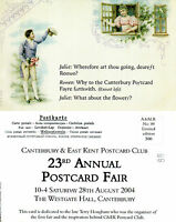 2004 CANTERBURY POSTCARD FAIR ADVERTISING LIMITED EDITION MINT POSTCARD
