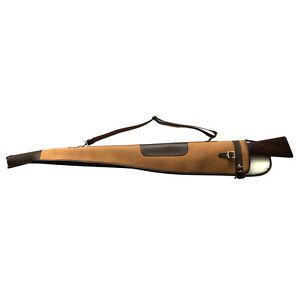 "Tourbon Canvas Leather Gun Slip Shotgun Soft Case Padded Bag Carry 52"" Vintage"