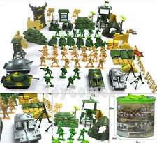 100 pcs Military Playset Plastic Toy Soldier Army Men 1:36 Figures & Accessories