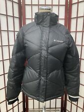 Columbia Omni Heat Puffer Down Snowboard Jacket Black Girls 10-12