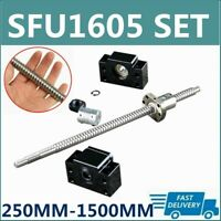 RM1605 SFU1605 250mm-1500mm BallScrew+ BK/BF12 Support+ 6.35x10mm Coupler C7 Set