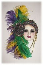 Unique Creations Large Mardi Gras Mask Face Lady Face Mask Wall Decor Hanging