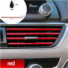 10pcs Car Accessories Air Conditioner Air Outlet Decoration Strip Cover PVC Red photo