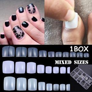 100X Full Cover Artificial Toenail Foot Fake Nails Nail Art Tips Toe Nails·