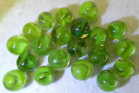 7419m Beautiful Vintage Group or Bulk Lot of 20 Aventurine Cat's Eye Marbles