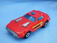 Vintage 1976 Matchbox Superfast No 64 Fire Chief Diecast Red Car Toy England