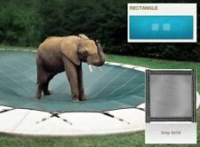 Ultra-Loc III Solid Gray Cover for 16 x 36 Pool with Mesh Drain Panels
