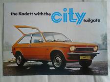 OPEL KADETT CITY BROCHURE ANNI 1970