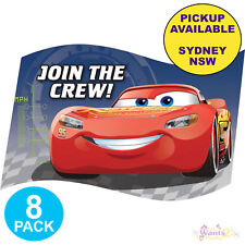 DISNEY CARS 3 PARTY SUPPLIES 8 PACK INVITATIONS BIRTHDAY INVITES STICKERS SET
