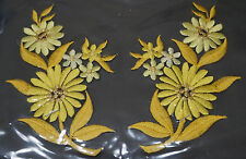 Yellow daisies pair flowers floral boutique Embroidered Sew Iron on Patch