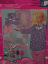 Rare 1994 Barbie Slumber Party Lavendar & Pink Pajama Fashion Set!