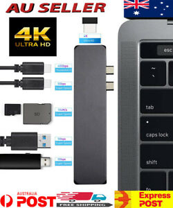 7in1 USB Type-C Multi Port HDMI 4K Output SD/TF OTG Reader 2-USB 3.1 For MacBook