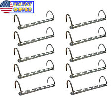 Metal Cascading Space Saving Closet Hangers -  360 Swivel Action Multi Hanger