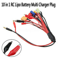 8 in1/10 in1 RC Lipo Battery Multi Charger Plug Adapter Charging Cable Converter