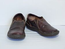 Born Glen Brown Leather Slip On Shoes Flat Loafers W6542 Women's 6 US (36.5 EU)