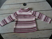 Pull rose rayé violet KISS MELODY Taille 5 ans super état